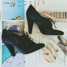 Ankle Booties Satin and suede..used..good condition Nine West Shoes Ankle Boots & Booties