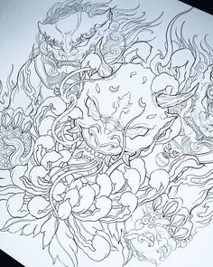 Dragon Tattoo Back Piece, Dragon Sleeve Tattoos, Hannya Tattoo, Irezumi Tattoos, Body Art Tattoos, Arabic Tattoos, Japanese Dragon Tattoos, Monami Frost, Japanese Embroidery