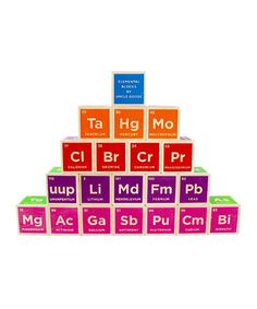 This Periodic Table Block Set by Uncle Goose is perfect! Crafted from sustainable Michigan basswood and printed with colorful nontoxic inks, this embossed block set features the elements with their atomic number, symbol and name. Perfect for little scientists!    •Includes 20 blocks •Wood