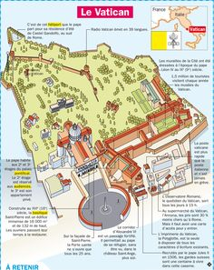 Educational infographic : Fiche exposés : Le Vatican à Rome Italie Le Vatican, Vatican City Rome, Rome Travel, Travel Maps, Italy Travel, How To Teach Grammar, Flags Europe, French Phrases, French Language Learning