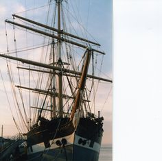 Star of India, an functional sail ship in San Digo harbor.  You can tour it.  Film-based photo, mid 90's.  http://www.sdmaritime.org/