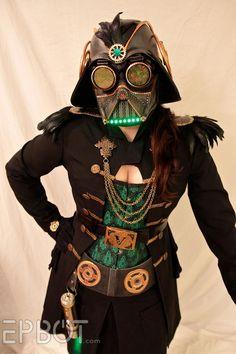 Victorian Darth Vader steampunk dress is creepy