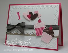 WMW I {{Heart}} Cupcakes! by Wendybell - Cards and Paper Crafts at Splitcoaststampers