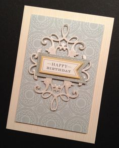 Elegant Masculine Birthday Card by PinkPetalPapercrafts on Etsy