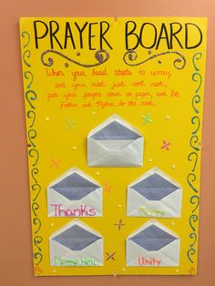 Inspired by another Pin on Pinterest. Modified it a bit. But it's definitely a great way for children to learn how to pray and what to pray for.