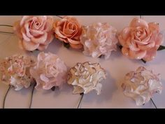 Wild Orchid Crafts- Tutorial on altering paper flowers. - YouTube