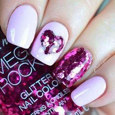 Make an original manicure for Valentine's Day - My Nails Heart Nail Art, Heart Nails, Romantic Nails, Valentine's Day Nail Designs, Heart Designs, Nails Design, Valentine Nail Art, Nails For Valentines Day, Manicure E Pedicure