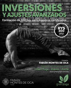 Formación de 300 horas para maestros de yoga, especializada en inversiones y ajustes avanzados. Impartida por Fabián Montes de Oca, experto en equilibrios en todas sus variaciones y en posturas avanzadas.  Si quieres perfeccionar tu parado de manos y enseñar las técnicas especializadas de este yogui equilibrista, ¡ésta es tu oportunidad!   Www.greenyoga.com.mx Tel: 55464488 Info@greenyoga.com.mx