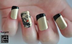 Marilyn Monroe Nail Art for LittleBlackDress.co.uk and Valentine's Day :) x