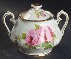Royal Albert, American Beauty (White Background) - Page 1 Royal Albert, China Dinnerware, Vintage China, Tea Pots, American, Teacup, Sugar Bowl, Bone China, Rose