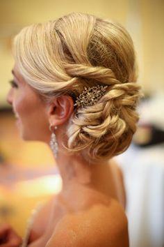 Elegant wedding hairstyles; Featured photographer: Melissa McClure Photography