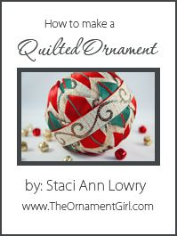 The very best (and easiest!) way to make quilted Christmas ornaments.   Step by step instructions.