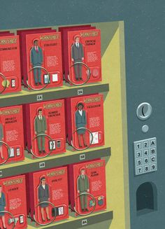 John Holcroft Illustrator  Editorial illustration, magazine cover for CTDO magazine about outsourcing different work talent.