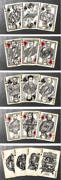 A playing card series by Jody Eklund inspired by the building of the 1st Transcontinental Railroad.
