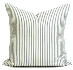 Ticking Stripe Pillow Covers French Ticking by ElemenOPillows