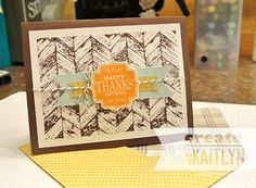 happy thanksgiving cards stampin up | Happy Thanksgiving & New Envelope Punch Board
