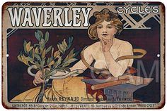 Waverley Bicycles Vintage Look Reproduction 8x12 Metal Sign 8120648