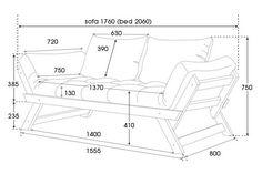 Bebop Replica Convertible Sofa Bed