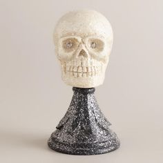 One of my favorite discoveries at WorldMarket.com: Skull on Stand Decor