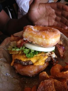 Doughnut burger! its the best thing ever!
