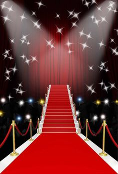 Stage Red Carpet Photography Backdrops For Photo Studio Hollywood Neon Lights Ph. Stage Red Carpet Photography Backdrops For Photo Studio Hollywood Neon Lights Photo Booth Backgroun <-> Photo Booth Background, Background For Photography, Photography Backdrops, Photo Booth Backdrop, Stairs Background, Birthday Background, Photography Studios, Photography Marketing, Red Carpet Theme