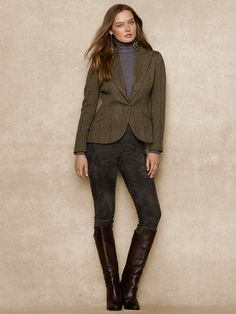 Wool Tweed Jacket - Jackets   Women - RalphLauren.com