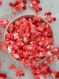 Red Hot Popcorn: made with melted red hot candies to add some spice!