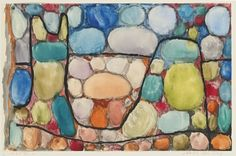 PAUL KLEE 1879 - 1940 SCHATZ ÜBER TAG (TREASURE ABOVE GROUND) Signed Klee (upper left); dated 1935, numbered L6 and titled (on the artist's mount) Watercolor, gouache and brush and ink on paper mounted on card Sheet: 7 1/8 by 10 7/8 in.; Mount: 13 1/2 by 16 7/8 in. Executed in 1935.