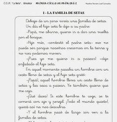 FICHAS DE LECTURA COMPRENSIVA PRIMER CICLO DE PRIMARIA.  LECTURAS 1 - 5         LECTURAS 6 - 10         LECTURAS 11 - 16        LECTURAS ...
