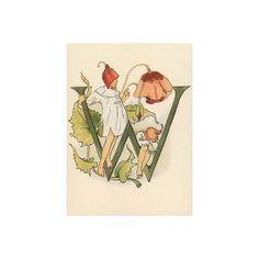 Ottilia Adelborg (1855-1936) modern postcard from her alphabet book 1893.