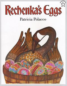 Rechenka's Eggs, there is an old Reading Rainbow where Patricia Polacco shows how to do the eggs!