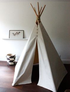 SUPER 7ft Fold Away Canvas Teepee by houseinhabit on Etsy, $235.00