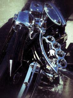 Brass knuckle brake grip