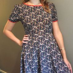 School Teacher Dress Super cute adorable school teacher like dress. Bought at a hip little boutique a couple years ago. Size medium, but the tie at the back could make it a small! Ask for measurements and usually flexible on pricing!. PLACED UNDER FREE PEOPLE. Not actually FP. It's a brand called Everly Dresses Midi