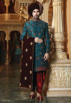 Indian Wedding Sherwani – Famous Last Words Sherwani Groom, Mens Sherwani, Wedding Sherwani, Punjabi Wedding, Wedding Sarees, Wedding Dresses Men Indian, Wedding Dress Men, Indian Dresses, Wedding Couples