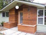 Home exterior renovation // via m. Cellar, Garage Doors, Shed, Construction, Exterior, Outdoor Structures, Porches, Outdoor Decor, Homes