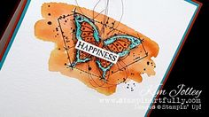 Today's card highlights the new In This World Stamp Set. Order Stampin' Up! On-Line from Stampin' Artfully Homemade Cards, Stampin Up Cards, Color Combos, Greeting Cards, Paper Crafts, Butterfly, World, Artist, Card Ideas