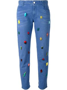 Stella Mccartney Embellished Jeans - Stefania Mode - Farfetch.com
