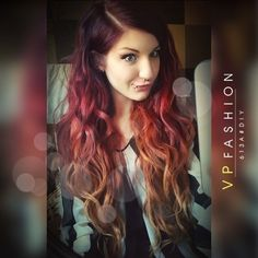 wonderful red ombre for dark hair DIY your unique hair color 2015 summer