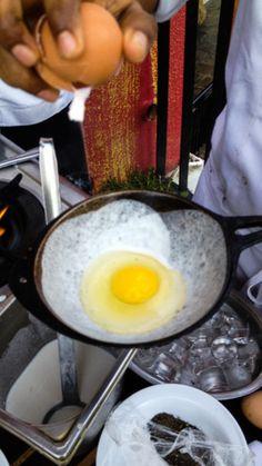 Making egg hoppers, at Amaya Hills Resort & Spa, Kandy
