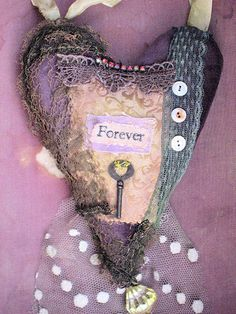 .going to sew heart/use my old key,stuff with potpourri and hang in bathroom