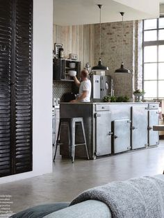 Loft industrial kitchen