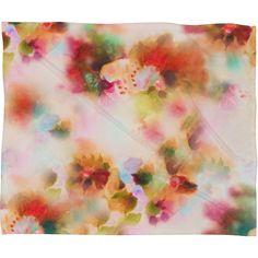 Marta Spendowska Watercolor Vintage Burgundies Fleece Throw Blanket | DENY Designs Home Accessories