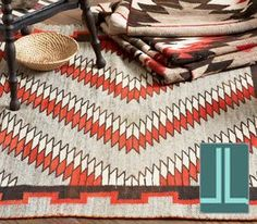 Native American pattern in orange and brown
