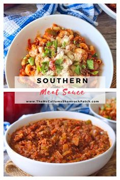 This flavorful, delicious old-fashioned Southern Meat Sauce has been floating around for years; a thick, rich, hearty, and filled to the brim with sweet organic tomatoes, peppers, and onions that lends the perfect layer of flavor to any pasta you choose. Southern Breakfast, Southern Dinner, Southern Style, Italian Meat Sauce, Italian Meats, Beef Recipes, Chicken Recipes, Rice Recipes, Delicious Recipes