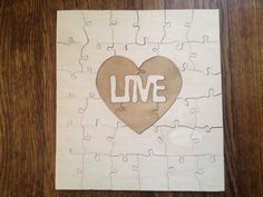 Wedding puzzle guest book...how cool!  Lost Found Puzzles by lostandfoundpuzzles on Etsy