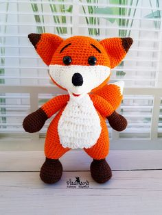Fox Pattern, Crochet Doll Pattern, Crochet Toys Patterns, Stuffed Toys Patterns, Crochet Dolls, Crochet Ideas, Doll Tutorial, Amigurumi Tutorial, Amigurumi Fox