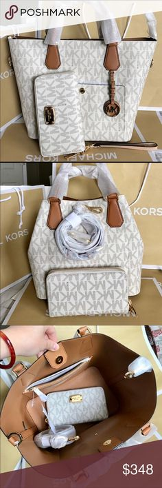 🌴Michael Kors Set🌴 100% Authentic Michael Kors Purse Crossbody and Wallet, both brand new!.😍😍😍 Michael Kors Bags Crossbody Bags