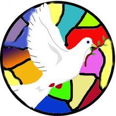 Paloma para el mural de 2010 Glass Blocks, Spirituality, Birds, Peace, Carrera, Crafts, Iphone, School, Craft
