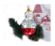 clown ornament  mercury glass ornament   by HolidayDecorShoppe